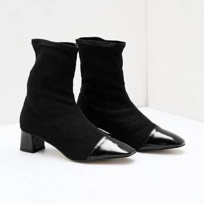 Model Sepatu Boots Wanita Terbaik Berrybenka mezalina Julian knit boots black