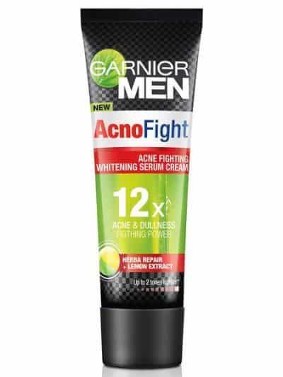 Pelembab Wajah Pria Terbaik Garnier Men Acno Fight Whitening Serum Cream