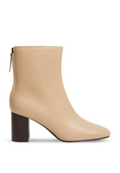 Model Sepatu Boots Wanita Terbaik Mango heel leather ankle boots