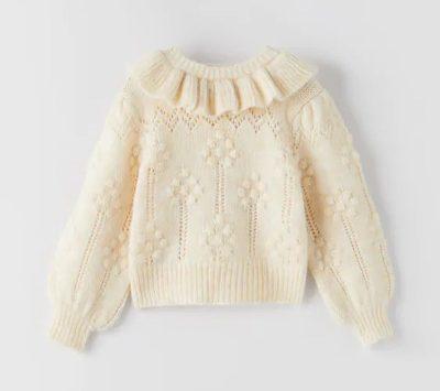 Sweater Rajut Wanita Dewasa Terbaik Ruffles