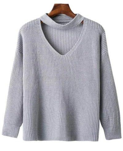 Sweater Rajut Wanita Dewasa Terbaik Choker