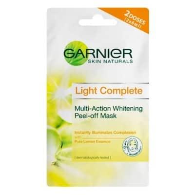 Peel Off Mask Terbaik Garnier Light Complete Whitening Peel Off Mask