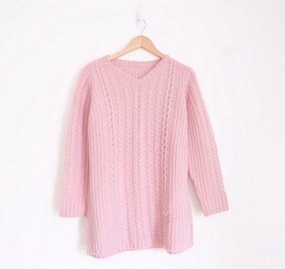 Model Sweater Rajut Wanita Dewasa Terbaik Vintage House Lora Braid Knit