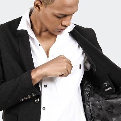 Best Men's Suit Models CELCIUS Blazer Formal Suit B01420C Black