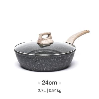 Wajan Keramik Terbaik Zhejiang Carote Industry And Trade Carote Essential Woody Non-Stick Deep Fry Pan