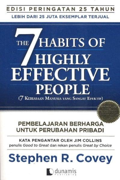 Buku Pengembangan Diri (Self Improvement) Terbaik 7 Kebiasaan Manusia yang Sangat Efektif