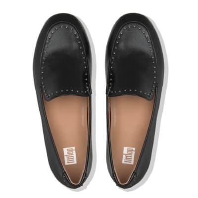 Sepatu Pantofel Wanita Terbaik Fitflop Y50-090 Lena Microstud AW19 Loafers