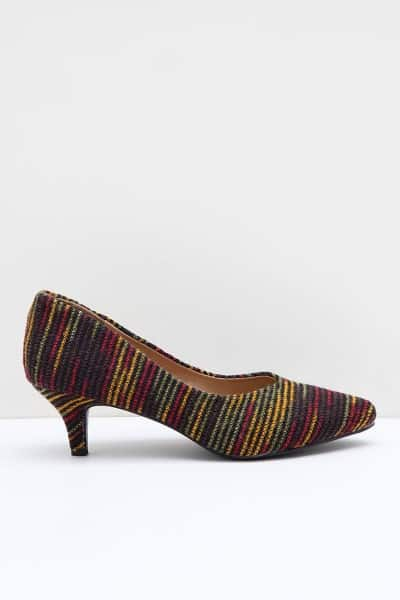Sepatu Pantofel Wanita Terbaik Canina Julian Stripe Heels Multicolor