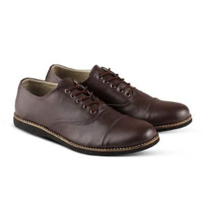 Sepatu Pantofel Pria Terbaik Monday Oxford Brown