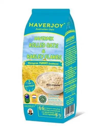Sereal untuk Diet Terbaik Haverjoy Havermix Rolled Oats & Barley Flakes