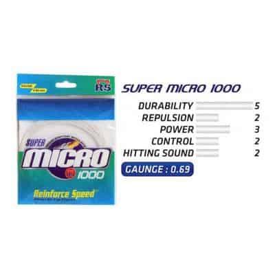 Senar Raket Badminton Terbaik Merk RS Super Micro 1000