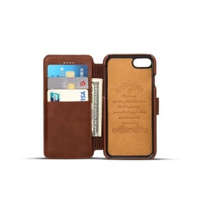 Merk Case Iphone Terbaik SUTENI Leather Flip Case for iPhone