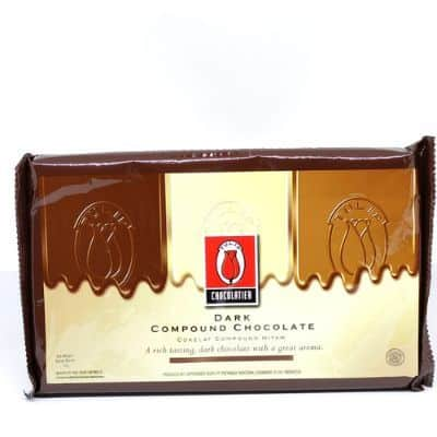 Coklat Blok Terbaik Tulip Dark Compound Chocolate