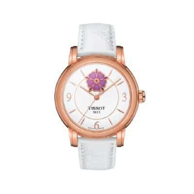 Jam Tangan Wanita Terbaik Eiger Cleeve Watch Tissot Heart Flower T050.207.37.017.05