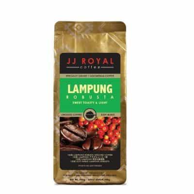 Rekomendasi Kopi Bubuk Terbaik yang Enak JJ Royal Lampung Robusta - Biji Kopi Pilihan