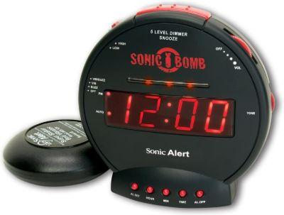 Jam Weker Digital Unik Sonic Alert The Sonic Bomb Alarm Clock With Super Shaker