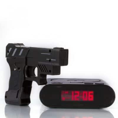 Jam Weker Digital Unik Lucu Tokuniku Gun Alarm Clock