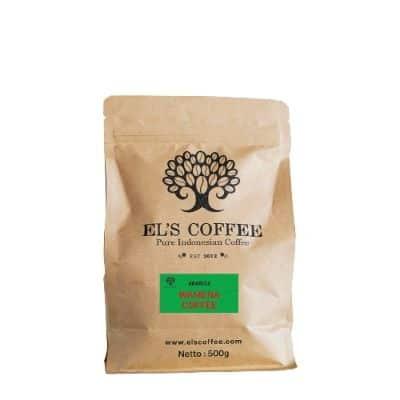Rekomendasi Kopi Bubuk Terbaik yang Enak El's Coffee Arabika Wamena - Biji Kopi Pilihan