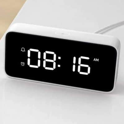 Jam Weker Digital Unik Xiaomi Smart Voice Broadcast Table Alarm Clock