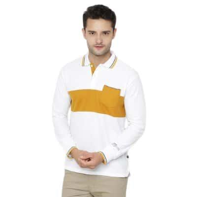 Kaos Lengan Panjang Pria Terbaik Nevada Polo Basic White