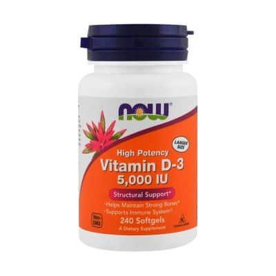 Suplemen Vitamin D Terbaik Now Food Vitamin D-3 5000 IU
