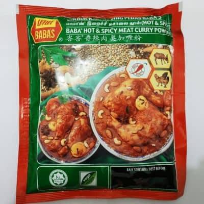 Bumbu Kari Instan Terbaik Baba'S Hot & Spicy Meat Curry Powder