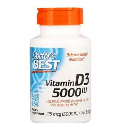 Suplemen Vitamin D Terbaik Doctor's Best Vitamin D3 5000 IU