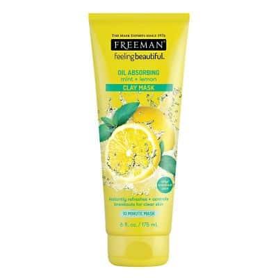 Skincare Penghilang Bruntusan di Wajah Freeman Mint and Lemon Clay Mask