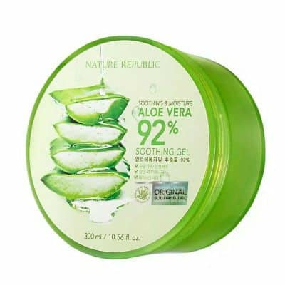 Skincare Penghilang Bruntusan di Wajah Nature Republic Aloe Vera 92% Soothing Gel