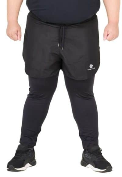 Celana Training Pria Terbaik Tiento Running Jumbo Legging Pants 2in1