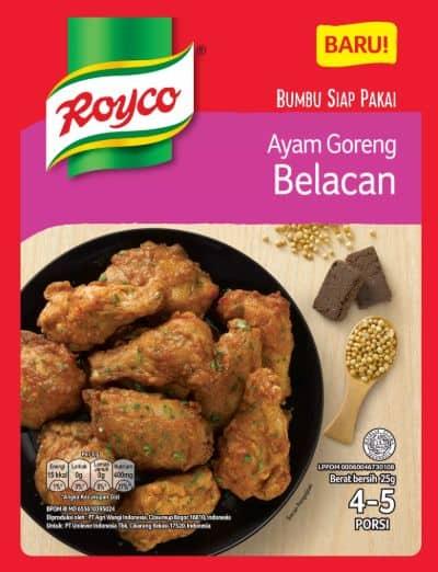 Bumbu Ayam Goreng Enak Terbaik Royco Bumbu Ayam Goreng Belacan