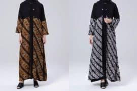 Model Gamis Batik Kombinasi Terbaik