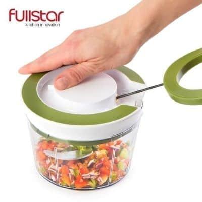 Chopper Gilingan Daging Terbaik Quick Pull String Food Chopper Spiral Slicer Powerful Manual Hand Held dari Fullstar_