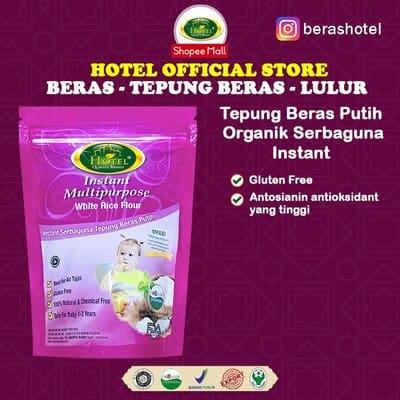 Tepung Beras untuk Bayi Terbaik Hotel beras putih