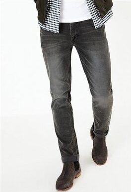 Celana Jeans Pria Terbaik Marks_spencer slim fit vintage wash stretch jeans