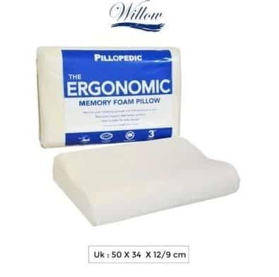 Bantal Guling Willow Pillow Ergonomic Small Memory Foam