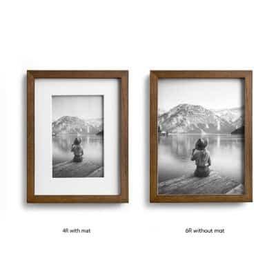 Frame Foto Terbaik Picora Lismo Brown 6R / 4R Pigura Foto Premium