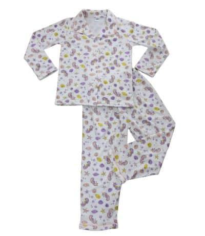 Baju Tidur Anak Perempuan Terbaik Amaris Piyama Kancing Motif Sea Horse