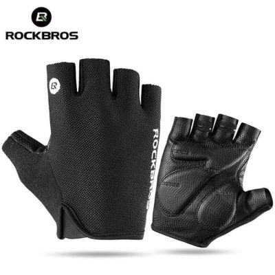 Sarung Tangan Sepeda Terbaik Rockbros Bicycle Gloves Half Finger Sport