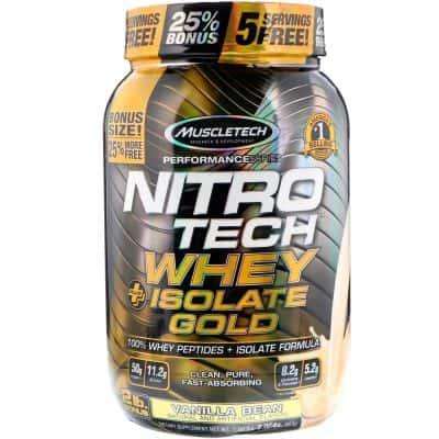 Suplemen Fitness Terbaik Muscletech Nitrotech Whey Isolate Gold