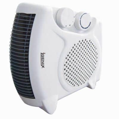 Penghangat Ruangan Terbaik jGENIX 200-500W Portable Room Floor Upright Flat Electric Fan Heater