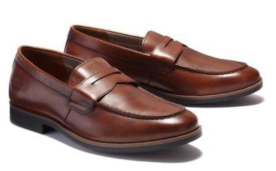 Sepatu Kulit Pria Terbaik Edgeworth Loafer Rust Full Grain dari Merk Timberland