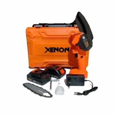 Mesin Potong Kayu Mini (Chainsaw) Terbaik Mini Chainsaw Baterai XENON CDMCS1845 Cordless